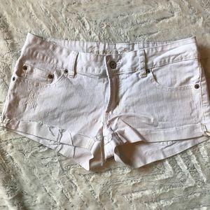 American Eagle • Paint Denim Shorts